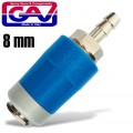 SAFETY QUICK COUPLER 8MM TWO STAGE RELEASE AIRBLOCK