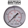 PRESSURE GAUGE 0-20BAR1/4REAR 63MM D6314R20