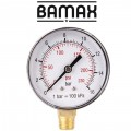 PRESSURE GAUGE 0-16BAR 1/4LOWER63MM