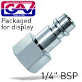 "CONNECTOR GERMAN 1/4""FEM. 2 PACKAGED"