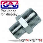 """TAPER REDUCER NIPPLE 1/2""""X3/4""""MM PACKAGED"""