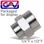 REDUCING SOCKET 1/4 X 1/2 F/F PACKAGED