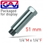 """EXTENSION 1/4""""X1/4""""M/F 51MM PACKAGED"""