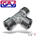 "T CONNECTOR 1/4""FFF"