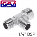 """T CONNECTOR 1/4"""" MMF"""