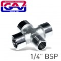 "4-WAY CONNECTOR 1/4""3F/1M(GIO1068)"