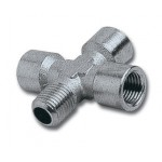 """4-WAY CONNECTOR 1/4""""3F/1M PACKAGED"""