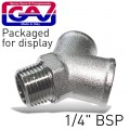 "Y CONNECTOR 1/4""MFF GIO1071-2 PACKAGED"