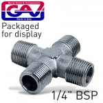 """4-WAY CONNECTOR 1/4"""" MMMM PACKAGED"""