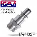 """QUICK COUPLER/INSERTS ARO 1/4""""M 2 PACKAGED"""