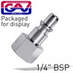 """QUICK COUPLER/INSERTS ARO 1/4""""F 2 PACKAGED"""