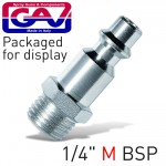 """QUICK COUPLER/INSERTS1/4""""M USA PACKAGED"""