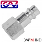 """HARDENDED STEEL QUICK COUPLER INSERT 1/4""""M IND"""