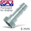 BAYONET COUPLING 6MM 2 PACKAGED