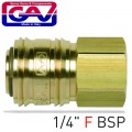 "QUICK COUPLER BRASS 1/4""F"