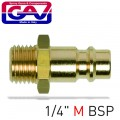 "CONNECTOR BRASS 1/4""M"