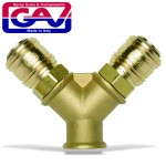 QUICK COUPLER BRASS TWO WAY 3-8F