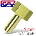 HOSE TAIL BRASS 1-4 FX9MM