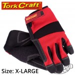 WORK GLOVE X-LARGE-ALL PURPOSE RED WITH TOUCH FINGER