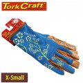 LADIES SLIM FIT GARDEN GLOVES BLUE X-SMALL