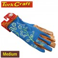 LADIES SLIM FIT GARDEN GLOVES BLUE MEDIUM