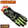 LADIES SLIM FIT GARDEN GLOVES BLACK X-SMALL