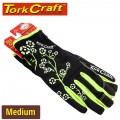 LADIES SLIM FIT GARDEN GLOVES BLACK MEDIUM