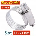 HOSE CLAMP 11-23MM EACH (10 PER BOX K8)