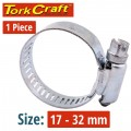 HOSE CLAMP 17-32MM EACH (10 PER BOX K12)