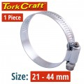 HOSE CLAMP 21-44MM EACH (10 PER BOX K20)