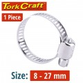 HOSE CLAMP 8-27MM EACH GM7