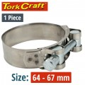 HOSE CLAMP H/DUTY 64-67 BULK