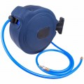 AIR HOSE REEL 15M X 9.5MM(3/8) PU HOSE  P/P CASING WALL MOUNTED