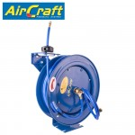"""AIR HOSE REEL 8 X12MM PU HOSE 15M WITH 1/4""""BSP FITTING METAL CASE"""
