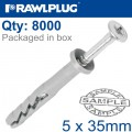 POL HAMMER-IN FIXING 5X35MM+ CYL HEAD X8000 PER BOX