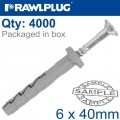 POL HAMMER-IN FIXING 6X40MM+ CSK HEAD X4000 PER BOX