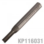 "STRAIGHT BIT 5/32"" (4MM) X 1/2"" CUT SOLID CARBIDE 2 FLUTE 1/4""SHANK"