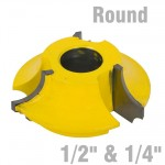 "3 WING CUTTER 1/4"" & 1/2"" QUARTER ROUND"