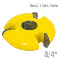 "3 WING CUTTER 3/4"" BEAD/FLUTE/COVE"