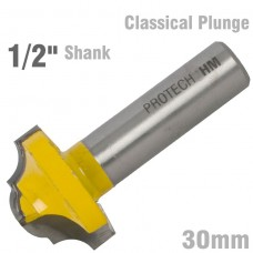 """CLASSICAL PLUNGE CUTTING 30MM 1/2"""" SHANK"""