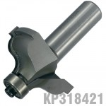 """QUIRK TOPPED OGEE 1/5/8"""" X 11/16""""RADIUS 1/4"""" 1/2"""" SHANK"""