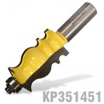 "FACE MOULD BIT 1"" X 1 11/16"" RADIUS 1/8""  1/2"" SHANK"