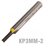 """STRAIGHT BIT 3MM X 1/2"""" TWO FLUTE SOLID CARBIDE 1/4""""SHANK"""