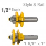 "STYLE & RAIL SET 1 5/8"" X 1"" TWO PIECE OGEE 1/2"" SHANK"