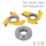 REVERSIBLE COMBINATION STYLE & RAIL SHAPER CUTTER DIAMETER 2 1/2""