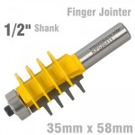 "ECONOMY FINGER JOINTER 35MM X 58MM  1/2"" SHANK"