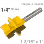 "TONGUE & GROOVE - PARALLEL 1 3/16"" x 1"" 1/4"" SHANK"