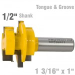 "TONGUE & GROOVE - PARALLEL 1 3/16"" x 1"" 1/2"" SHANK"