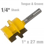 """TONGUE AND GROOVE TAPER (WEDGE TAPER) 1"""" X 27MM 1/4"""" SHANK"""