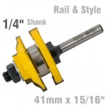 "RAIL & STYLE OGEE RAIL & STYLE 41MM X 15/16"" 1/4"" SHANK"